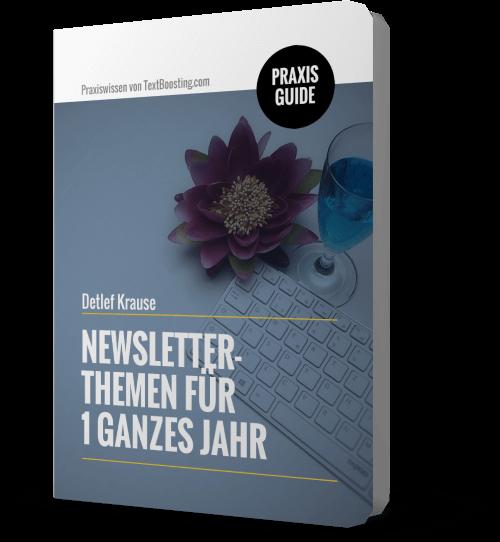 PraxisGuide: Newsletter-Themen für 1 ganzes Jahr