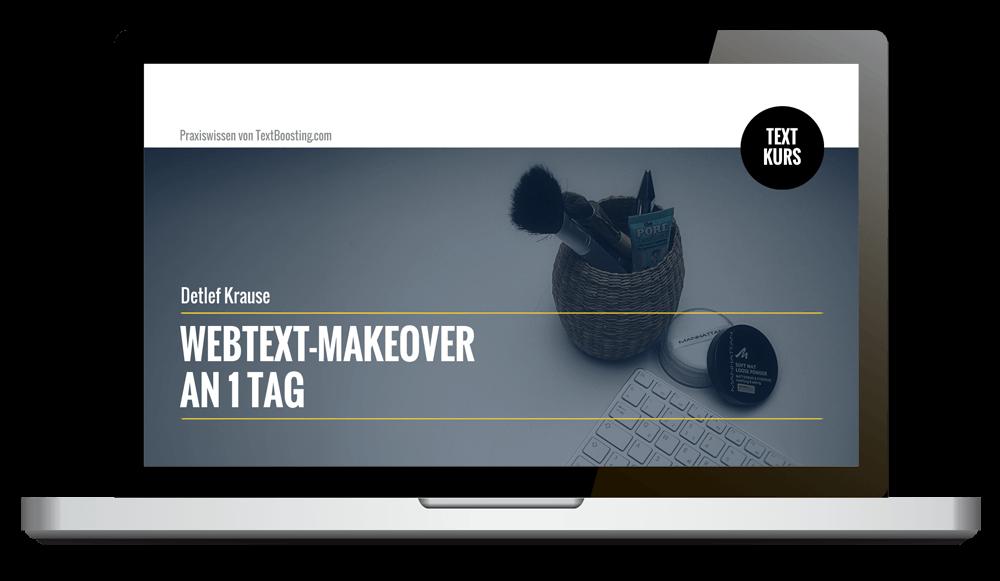 Kurs: Webtext-Makeover an nur 1 Tag